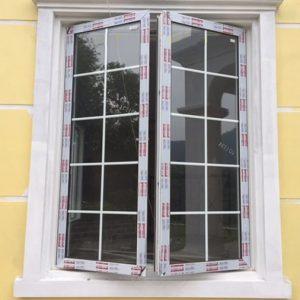Cửa sổ nhôm xingfa 2 cánh cố nan trang trí
